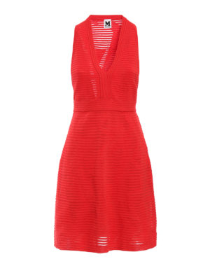 M Missoni: short dresses - V neck jersey dress