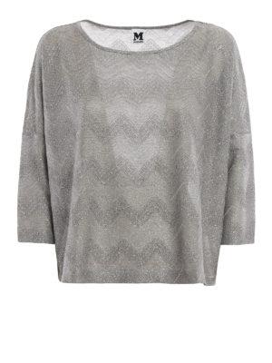 M Missoni: t-shirts - Chevron patterned jersey T-shirt