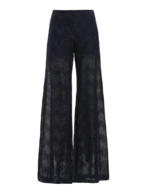 M Missoni: Tailored & Formal trousers - Chevron patterned palazzo trousers