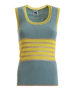 M MISSONI: Tops & Tank tops - Striped band knitted tank top