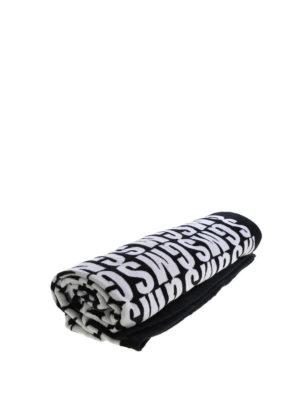 M.S.G.M.: beach accessories - Allover logo terrycloth beach towel