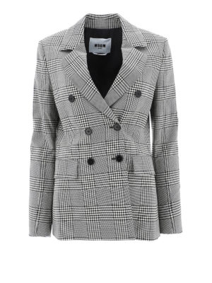 m.s.g.m.: blazers - Double-breasted checked blazer