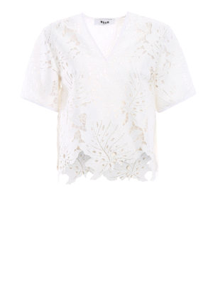 M.S.G.M.: blouses - Broderie anglaise origami blouse