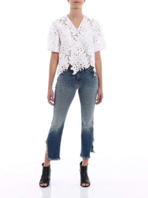 M.S.G.M.: blouses online - Broderie anglaise origami blouse