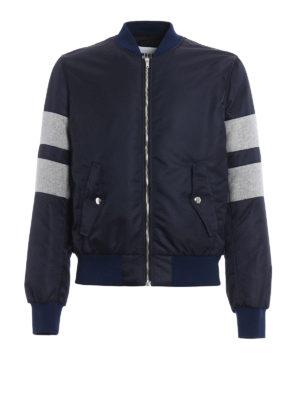 M.S.G.M.: bombers - Colour block nylon bomber jacket