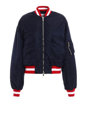 M.S.G.M.: bombers - Nylon bomber with ribbed edges