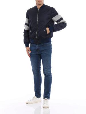M.S.G.M.: bombers online - Colour block nylon bomber jacket