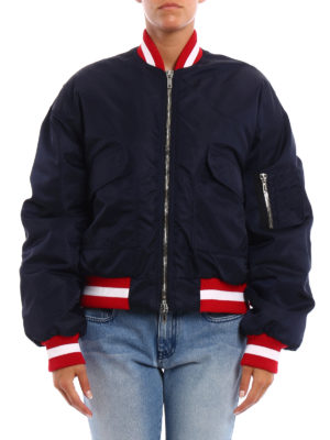 M.S.G.M.: bombers online - Nylon bomber with ribbed edges