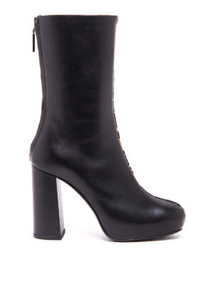 M.S.G.M.: boots - Leather and velvet boots