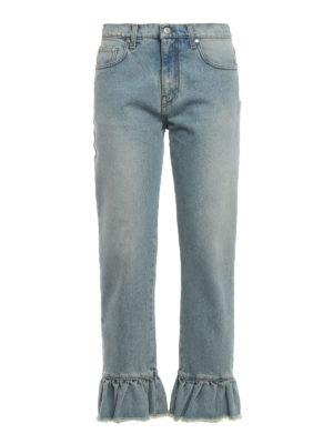 M.S.G.M.: Boyfriend - Flared bottom denim jeans