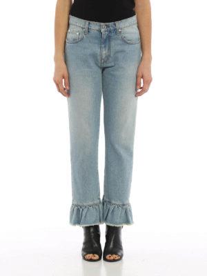 M.S.G.M.: Boyfriend online - Flared bottom denim jeans