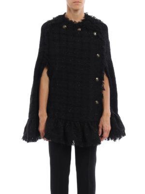 M.S.G.M.: Capes &  Ponchos online - Boucle tweed and lurex  cape