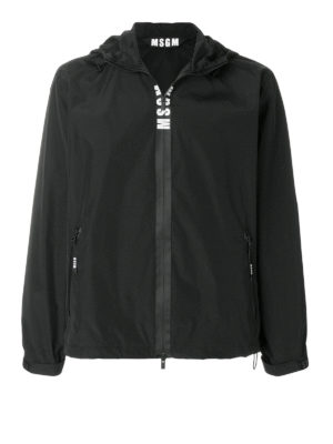 M.S.G.M.: casual jackets - Nylon and cotton hooded windbreaker