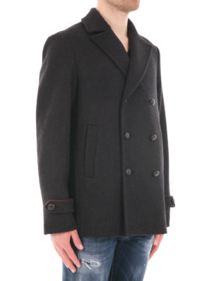 M.S.G.M.: casual jackets online - Virgin wool caban