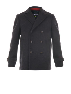 M.S.G.M.: casual jackets - Virgin wool caban