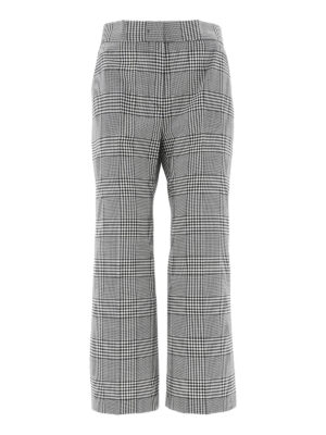 m.s.g.m.: casual trousers - Checked virgin wool trousers
