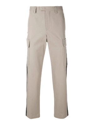 M.S.G.M.: casual trousers - Contrasting bands cargo trousers