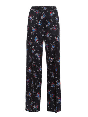 M.S.G.M.: casual trousers - Floral print trousers