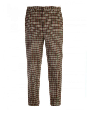 M.S.G.M.: casual trousers - Houndstooth crop trousers