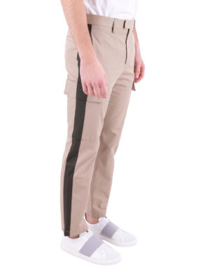 M.S.G.M.: casual trousers online - Contrasting bands cargo trousers