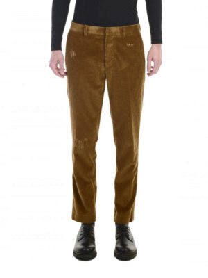M.S.G.M.: casual trousers online - Corduroy trousers
