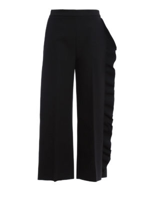 M.S.G.M.: casual trousers - Trousers with side frill detail