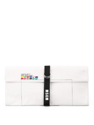 m.s.g.m.: pochette - Clutch in tela con tavolozza colori
