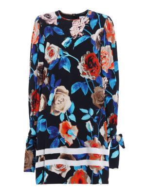 M.S.G.M.: cocktail dresses - Floral print crepe tunic dress