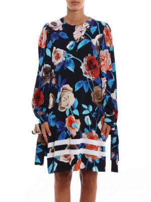 M.S.G.M.: cocktail dresses online - Floral print crepe tunic dress