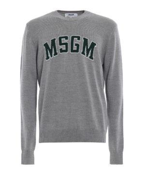m.s.g.m.: maglia collo rotondo - Pull in misto lana jacquard stile college