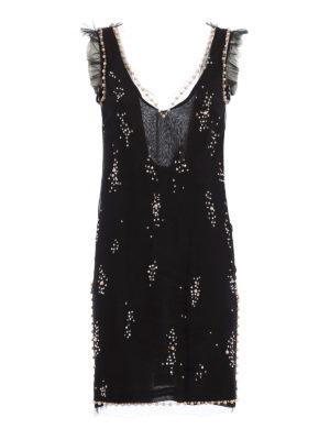 M.S.G.M.: evening dresses - Embellished short dress