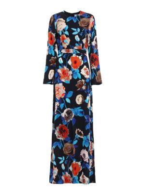 M.S.G.M.: evening dresses - Floral print crepe gown