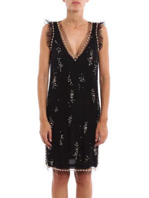 M.S.G.M.: evening dresses online - Embellished short dress