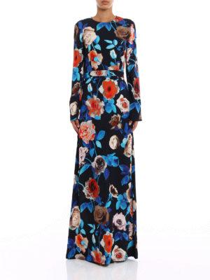 M.S.G.M.: evening dresses online - Floral print crepe gown