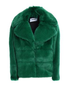 M.S.G.M.: Fur & Shearling Coats - Faux fur short coat