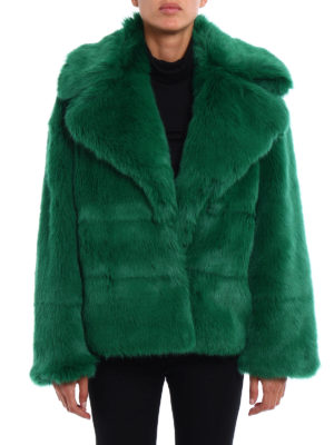 M.S.G.M.: Fur & Shearling Coats online - Faux fur short coat