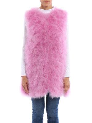 M.S.G.M.: Fur & Shearling Coats online - Feather vest