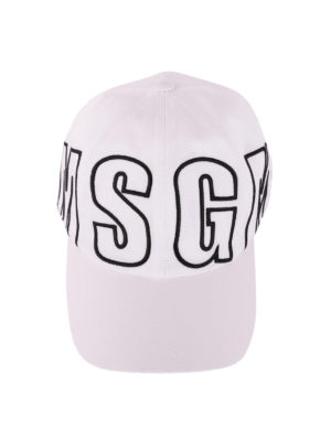 M.S.G.M.: hats & caps online - Logo embroidery cotton baseball cap