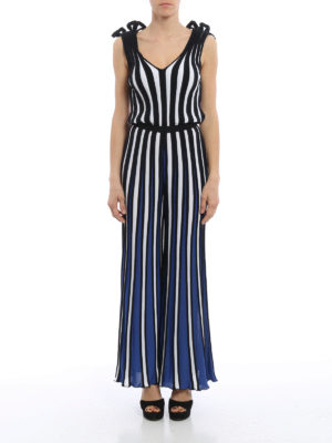 M.S.G.M.: jumpsuits online - Striped knitted jumpsuit