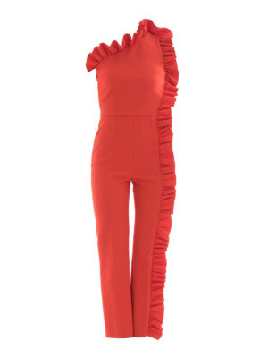 M.S.G.M.: jumpsuits - Ruched one shoulder jumpsuit