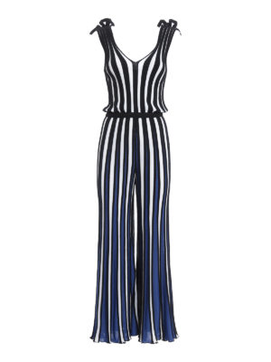 M.S.G.M.: jumpsuits - Striped knitted jumpsuit