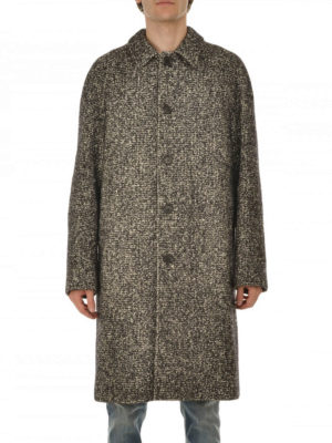 M.S.G.M.: knee length coats online - Tweed single-breasted coat