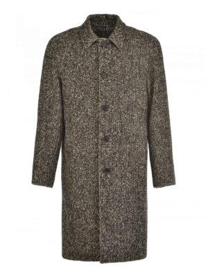 M.S.G.M.: knee length coats - Tweed single-breasted coat