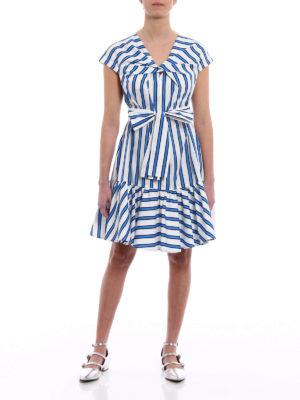 M.S.G.M.: knee length dresses online - Belt detailed cotton dress