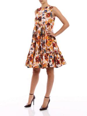 M.S.G.M.: knee length dresses online - Circle skirt detailed floral dress