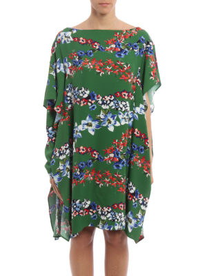 M.S.G.M.: knee length dresses online - Viscose floral ruffled dress
