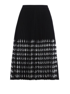 M.S.G.M.: Knee length skirts & Midi - Mesh decoration pleated skirt