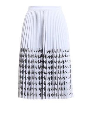 M.S.G.M.: Knee length skirts & Midi - Mesh decoration pleated skirt