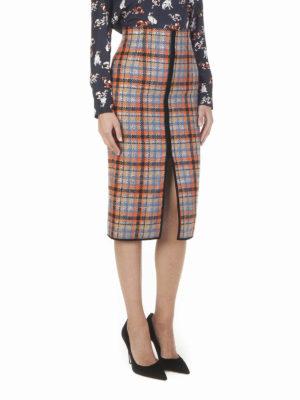 M.S.G.M.: Knee length skirts & Midi online - Check wool blend skirt