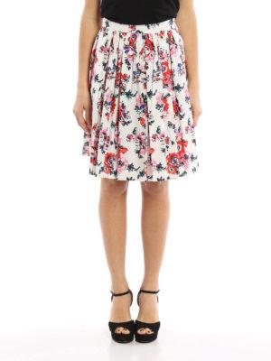 M.S.G.M.: Knee length skirts & Midi online - Floral print cotton skirt